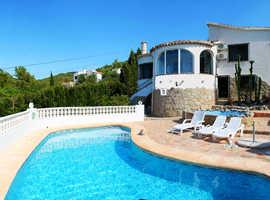 Mediteranean Villa + private pool at Costa Blanca- splendid roundview, all comfort, very quiet location