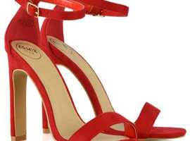 Stylish Red Block Heels For Sale