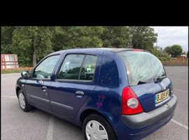 Renault Clio, 2005 (05) Blue Hatchback, Manual Diesel, 102,952 miles