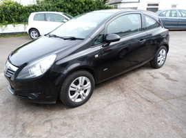 Vauxhall Corsa, 2009 (59) Black Hatchback, Manual Petrol, 85,000 miles