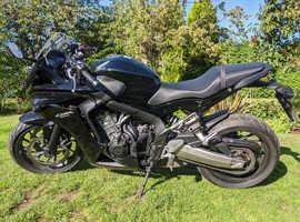 Black Honda CBR 650F CBR650F