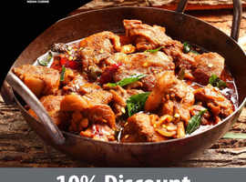 10% discount on collection orders over £20 | L'Orient Indian Cuisine