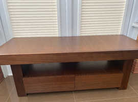 Akita walnut tv stand and side table