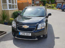 Chevrolet Orlando, 2012 (61) Black MPV, Automatic Diesel, 61,000 miles