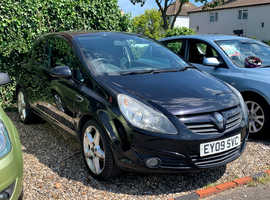 Vauxhall Corsa 1.2, 2009 (09) Black Hatchback, Manual Petrol, 91,292 miles, LONG MOT