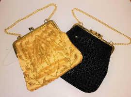 2 retro 1970s beaded purses