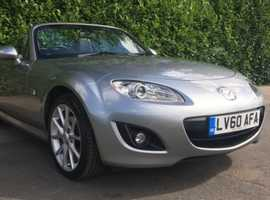 Mazda MX-5, 2010 (60) Silver Convertible, Manual Petrol, 27,000 miles