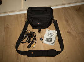 Nikon D70 Digital SLR Camera, lens, Lowepro Camera Bag.