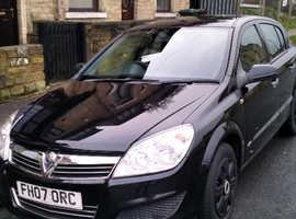 Vauxhall Astra, 2007 (07) black hatchback, Manual Diesel, 99000 miles