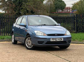 Ford Focus, 2002 (52) Blue Hatchback, Manual Petrol, RECENT NEW MOT