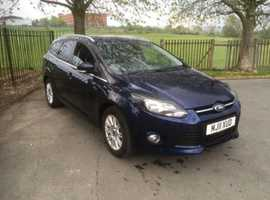 Ford Focus, 2011 (11) Blue Estate, Manual Petrol, 47,000 miles