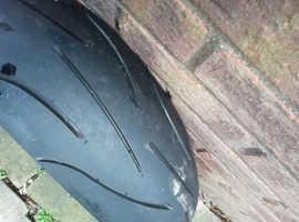 michelin rear tyre 180/55/17zr as new