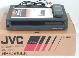 JVC HR-D910EK HI-FI VHS Player Video Cassette Recorder VCR VHS Recorder Boxed