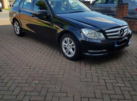 Mercedes C CLASS, 2012 (12) Black Estate, Manual Diesel, 256,187 miles