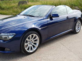 BMW 6 Series, 2008 (58) blue convertible, Automatic Petrol, 64,000 miles