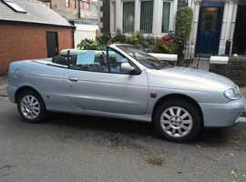Silver Renault Megane, 2002 (52) Convertible, Manual Petrol, 52,635 miles
