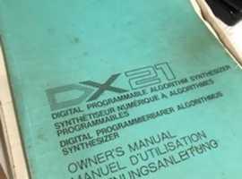 Yamaha DX21 ownwer's manual