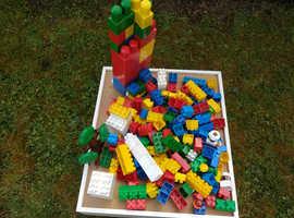 Mega Bloks and Duplo bricks