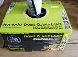 Komodo clamp lamp with bulb