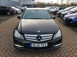 Mercedes C CLASS, 2012 (12) Black Saloon, Manual Diesel, 83,000 miles