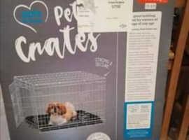 Pets At Home Double Door Crate