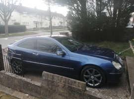 Mercedes C CLASS, 2005 (55) Blue Coupe, Automatic Diesel, 139,571 miles