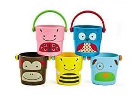 SKIP HOP ZOO STACK & POUR BUCKETS,