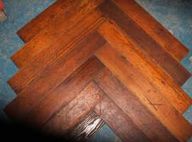 Antique pitch pine parquet flooring