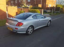 Hyundai Coupe, 2004 (04) Silver Coupe, Manual Petrol, 100,000 miles