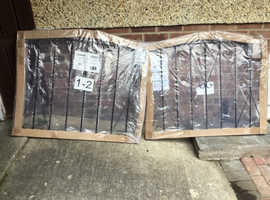 A PAIR OF BRAND NEW DRIVE GATES