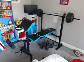 Folding Weight bench with preacher