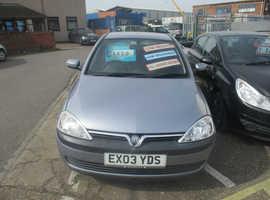 Vauxhall Corsa, 2003 (03) Silver Hatchback, Semi auto Petrol, 40,565 miles