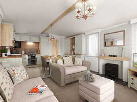 Top of the range caravan Holiday Home Lodge for sale in Weymouth Dorset