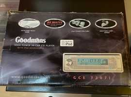 Goodmans High Power in car CD player with iPod accessories