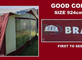 Caravan Awning Bradcot Size 924cm - 938cm Size 11 to Size 12