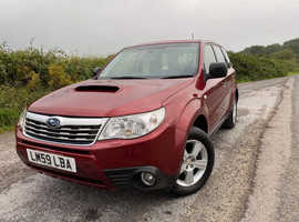 Subaru Forester, 2009 (59) Metallic Red Estate, Manual Diesel, 123,000 miles