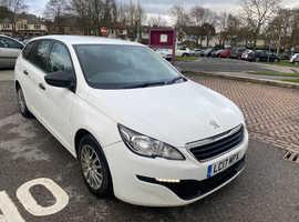 Peugeot 308, 2017 (17) White Estate, Manual Diesel, 119,900 miles EURO 6