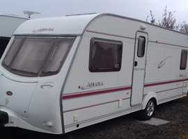 TOP RANGE COACHMAN AMARA 2003 . FIXED DOUBLE BED 4 BERTH. ALL ACCESSORIES FOR HOLS. AWNING.