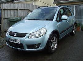 Suzuki SX4, 2006 (06) blue hatchback, Manual LPG, 136,000 miles