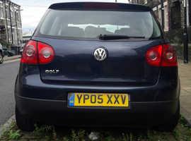 Volkswagen Golf, 2005 (05) Blue Hatchback, Manual Diesel, 195,000 miles