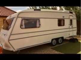 Carlight caravan 4 berth rare twin axle caravan for sale touring caravan