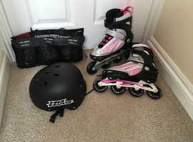 Fitness Skates, Skate Protection Pack &  Helmet