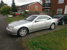 Mercedes Benz CL500 2002 £10000+ spent in recent years probably the best around - Silver black leather