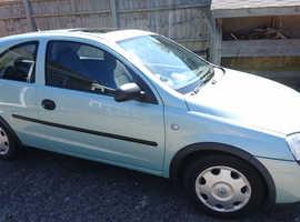 Vauxhall Corsa, 2002 (02) Green Hatchback, Manual Petrol, 76,000 miles