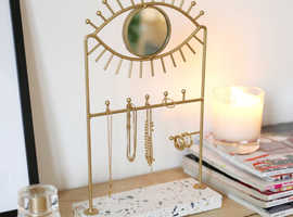Terrazzo base jewellery holder with mirror