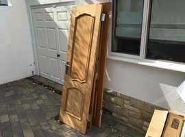 3 x wood doors