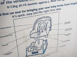 mama n papas baby car seat with surefix base