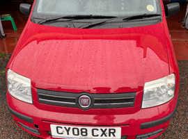 Fiat Panda, 2008 (08) red hatchback, Manual Petrol, 52,447 miles
