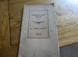 1.5 LITRE 1939 JAGUAR INSTRUCTION BOOK