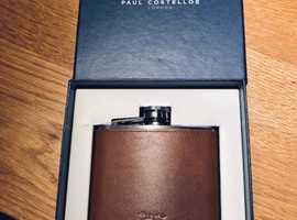 Hip Flask. Brand New, never used. Paul Costelloe. Brown Leather case.
